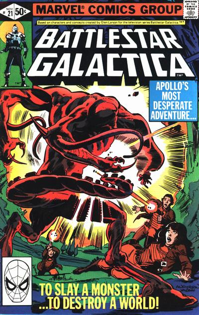 Cover for Battlestar Galactica (Marvel, 1979 series) #21 [Direct Edition]
