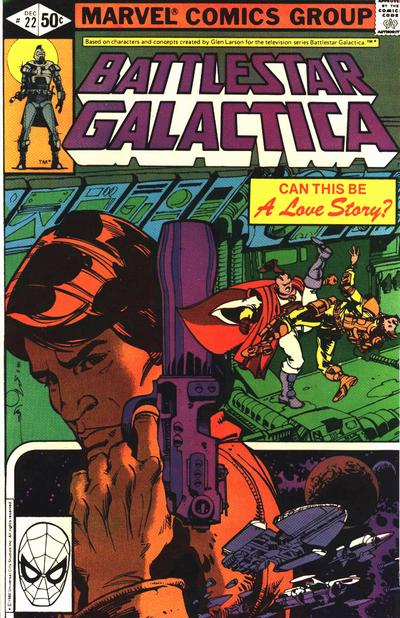 Cover for Battlestar Galactica (Marvel, 1979 series) #22 [Direct Edition]