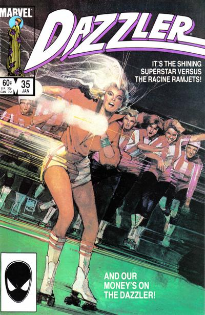 Cover for Dazzler (Marvel, 1981 series) #35 [Newsstand Edition]