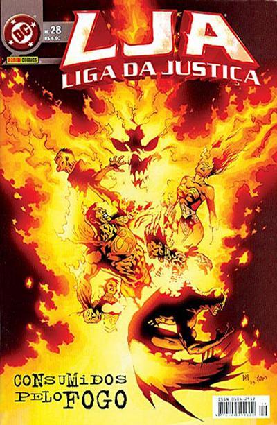 Cover for Liga da Justiça (Panini Brasil, 2002 series) #28