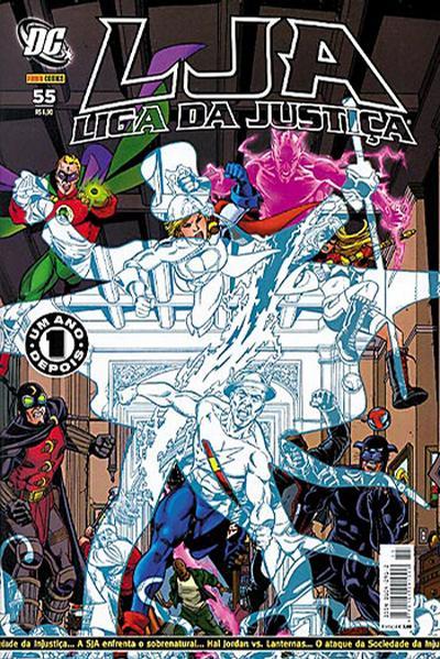 Cover for Liga da Justiça (Panini Brasil, 2002 series) #55