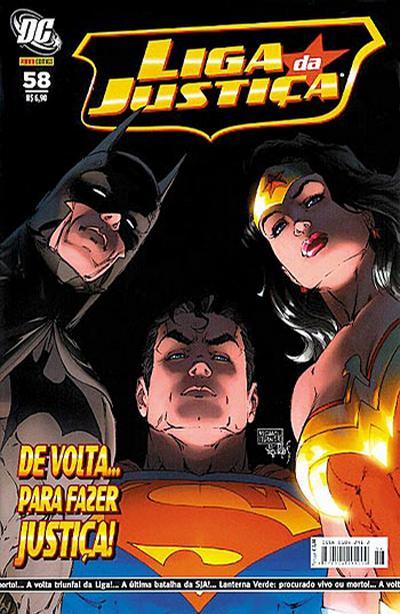 Cover for Liga da Justiça (Panini Brasil, 2002 series) #58