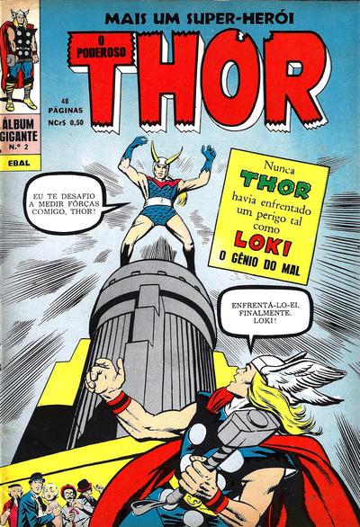 Cover for Álbum Gigante (4ª Série) [O Poderoso Thor] (Editora Brasil-América [EBAL], 1967 series) #2
