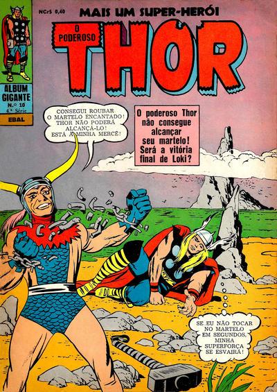 Cover for Álbum Gigante (4ª Série) [O Poderoso Thor] (Editora Brasil-América [EBAL], 1967 series) #10
