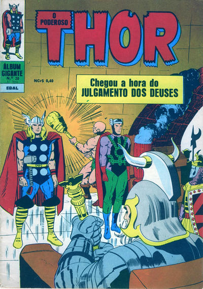 Cover for Álbum Gigante (4ª Série) [O Poderoso Thor] (Editora Brasil-América [EBAL], 1967 series) #20