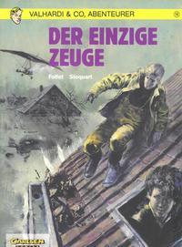 Cover Thumbnail for Valhardi & Co., Abenteurer (Carlsen Comics [DE], 1985 series) #14 - Der einzige Zeuge