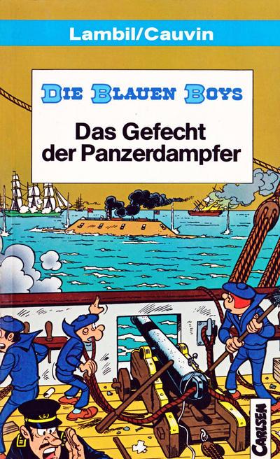 Cover for Carlsen Pocket (Carlsen Comics [DE], 1990 series) #20 - Die Blauen Boys - Das Gefecht der Panzerdampfer
