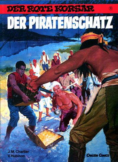 Cover for Der Rote Korsar (Carlsen Comics [DE], 1985 series) #11 - Der Piratenschatz