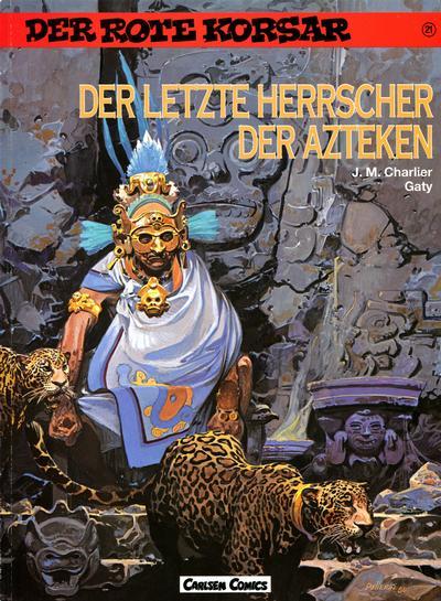 Cover for Der Rote Korsar (Carlsen Comics [DE], 1985 series) #21 - Der letzte Herrscher der Azteken