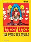 Cover for 16/22 (Carlsen Comics [DE], 1983 series) #8 - Lucky Luke ist stets zur Stelle