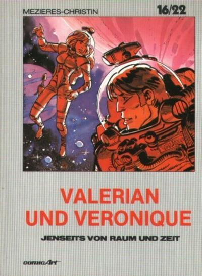 Cover for 16/22 (Carlsen Comics [DE], 1983 series) #12 - Valerian und Veronique - Jenseits von Raum und Zeit