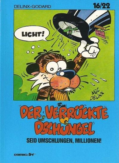 Cover for 16/22 (Carlsen Comics [DE], 1983 series) #14 - Der verrückte Dschungel - Seid umschlungen, Millionen!