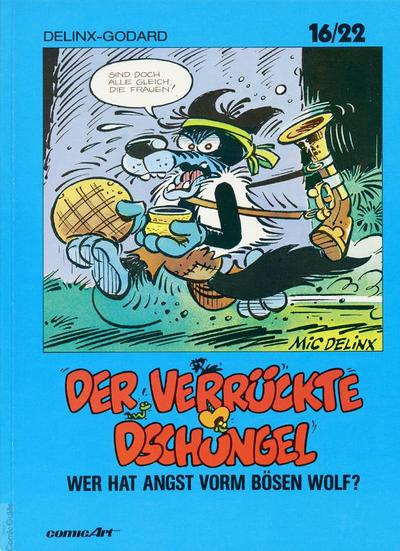 Cover for 16/22 (Carlsen Comics [DE], 1983 series) #18 - Der verrückte Dschungel - Wer hat Angst vorm bösen Wolf?