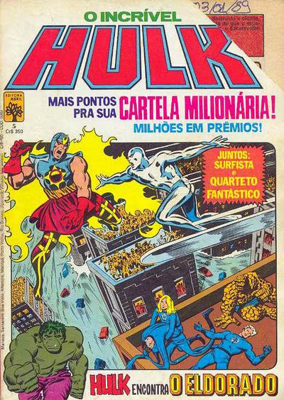 Cover for O Incrível Hulk (Editora Abril, 1983 series) #5