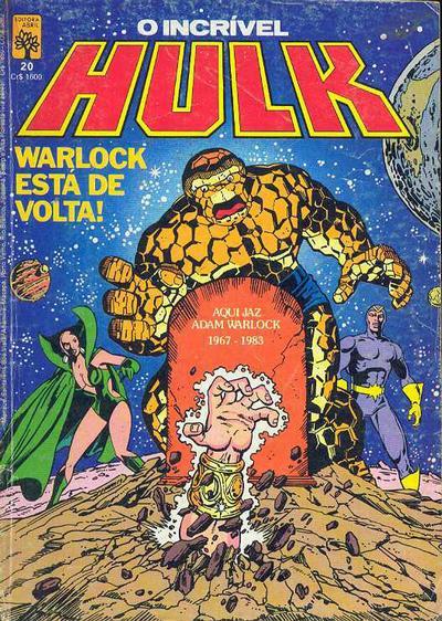 Cover for O Incrível Hulk (Editora Abril, 1983 series) #20