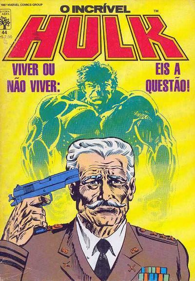 Cover for O Incrível Hulk (Editora Abril, 1983 series) #44