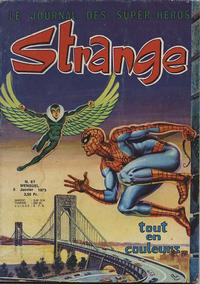 Cover Thumbnail for Strange (Editions Lug, 1970 series) #61