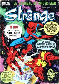 Cover Thumbnail for Strange (Editions Lug, 1970 series) #100