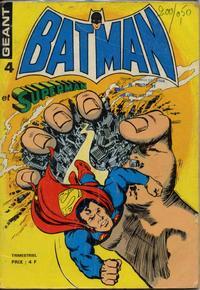 Cover Thumbnail for Batman et Superman Géant (Sage - Sagédition, 1976 series) #4