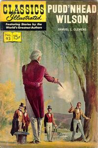 Cover Thumbnail for Classics Illustrated (Gilberton, 1947 series) #93 [O] - Pudd'nhead Wilson [New Painted Cover]