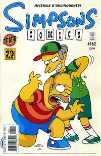 Cover for Simpsons Comics (Bongo, 1993 series) #162