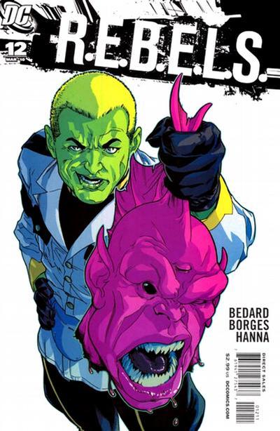 Cover for R.E.B.E.L.S. (DC, 2009 series) #12