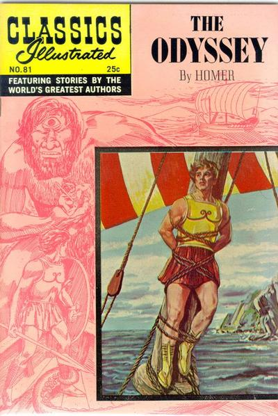 Cover for Classics Illustrated (Gilberton, 1947 series) #81 [O] - The Odyssey
