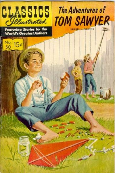 Cover for Classics Illustrated (Gilberton, 1947 series) #50 [O] - The Adventures of Tom Sawyer