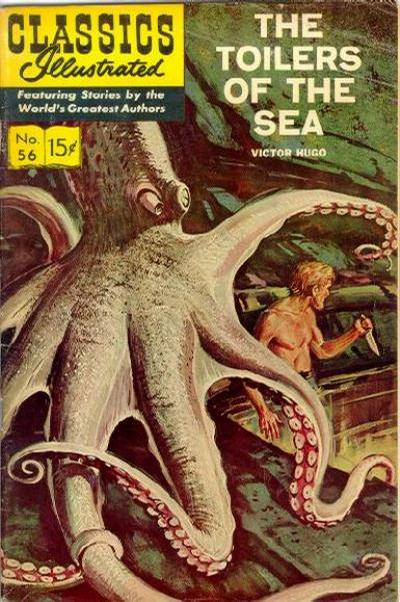 Cover for Classics Illustrated (Gilberton, 1947 series) #56 [HRN165] - The Toilers of the Sea