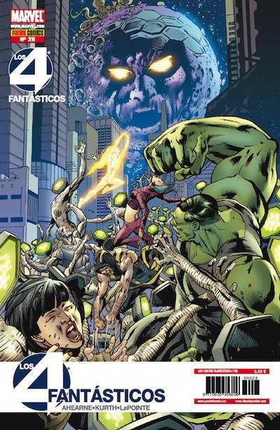 Cover for Los 4 Fantásticos (Panini España, 2008 series) #28