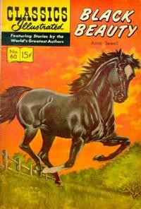 Cover Thumbnail for Classics Illustrated (Gilberton, 1947 series) #60 [HRN158] - Black Beauty