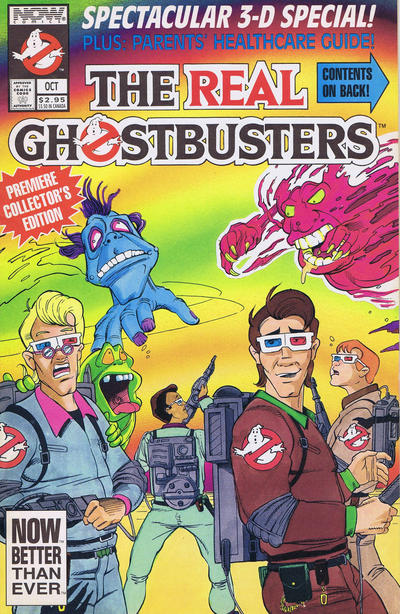 Cover for The Real Ghostbusters Spectacular 3-D Special (Now, 1991 series)