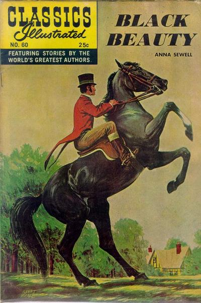 Cover for Classics Illustrated (Gilberton, 1947 series) #60 [HRN158] - Black Beauty