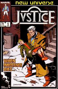 Cover Thumbnail for Justice (Marvel, 1986 series) #6 [Direct]