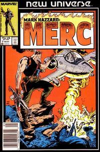 Cover Thumbnail for Mark Hazzard: Merc (Marvel, 1986 series) #7 [Newsstand]