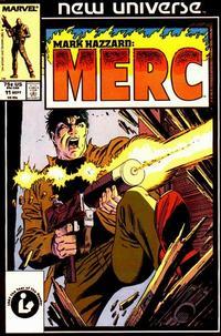 Cover Thumbnail for Mark Hazzard: Merc (Marvel, 1986 series) #11 [Direct Edition]