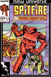 Cover Thumbnail for Spitfire and the Troubleshooters (Marvel, 1986 series) #3 [Direct]