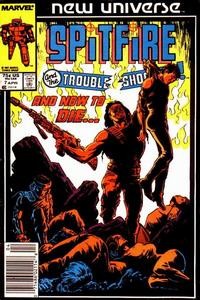 Cover Thumbnail for Spitfire and the Troubleshooters (Marvel, 1986 series) #7 [Newsstand]