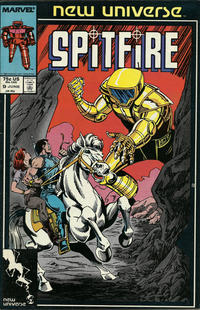 Cover Thumbnail for Spitfire and the Troubleshooters (Marvel, 1986 series) #9 [Direct Edition]