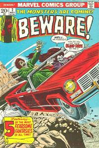 Cover Thumbnail for Beware (Marvel, 1973 series) #2