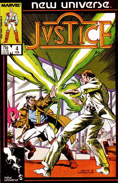 Cover for Justice (Marvel, 1986 series) #4