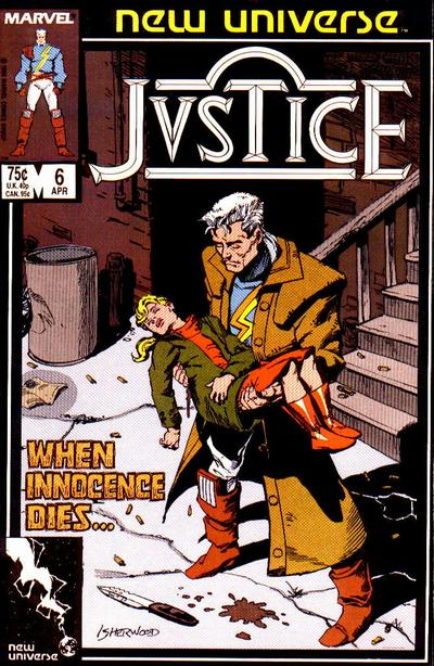 Cover for Justice (Marvel, 1986 series) #6