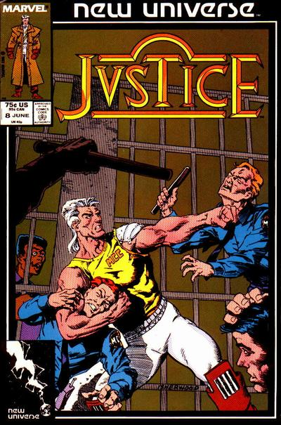 Cover for Justice (Marvel, 1986 series) #8