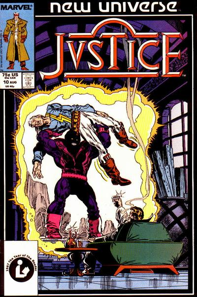 Cover for Justice (Marvel, 1986 series) #10 [Newsstand Edition]