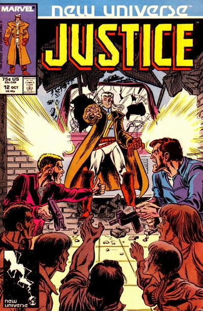 Cover for Justice (Marvel, 1986 series) #12