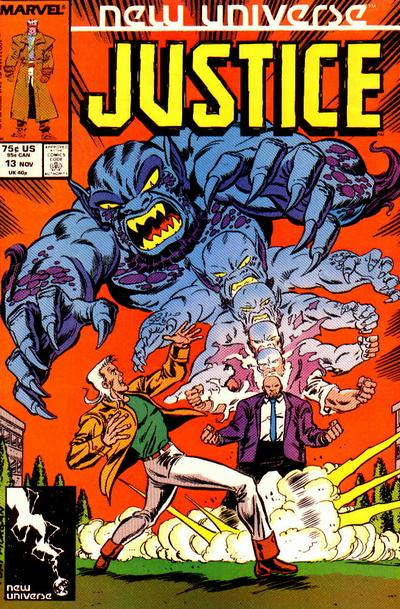 Cover for Justice (Marvel, 1986 series) #13 [Direct]