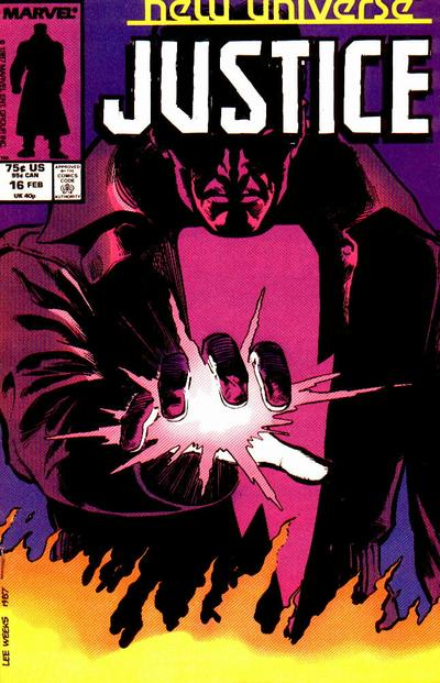 Cover for Justice (Marvel, 1986 series) #16