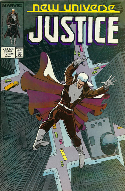 Cover for Justice (Marvel, 1986 series) #17
