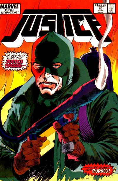 Cover for Justice (Marvel, 1986 series) #23