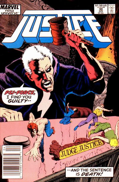 Cover for Justice (Marvel, 1986 series) #30